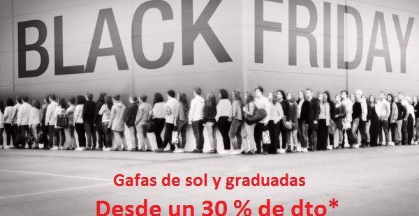 BLACK FRIDAY en Optica Manuel Pedraza, gafas graduadas y de sol desde un 30 % de descuento
