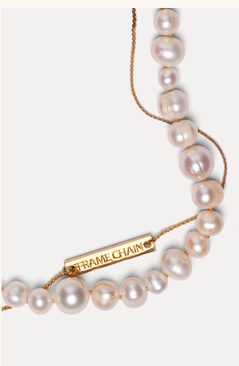 PEARLY PRINCESS Cadena oro 18k & perlas